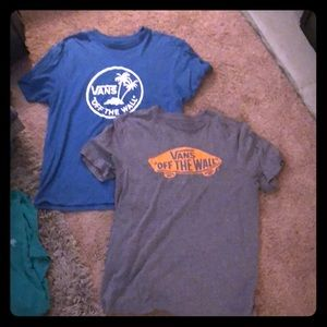 Two Vans Short Sleeve Shirts